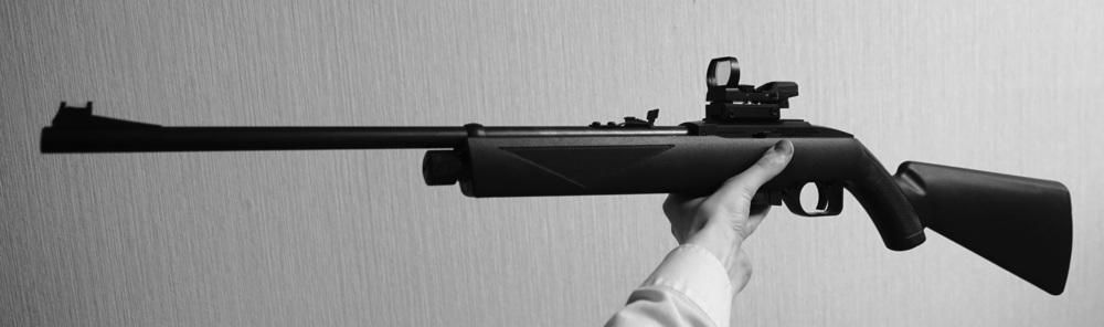 Crosman 1077 CO2 rifle and sight
