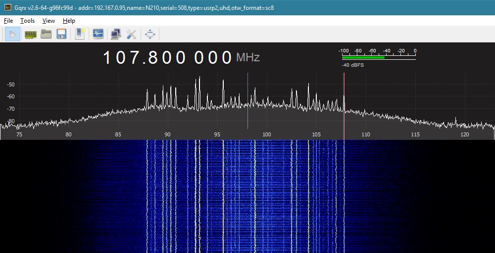 Время серьёзного SDR : Ettus N210 - 40МГц радиоэфира